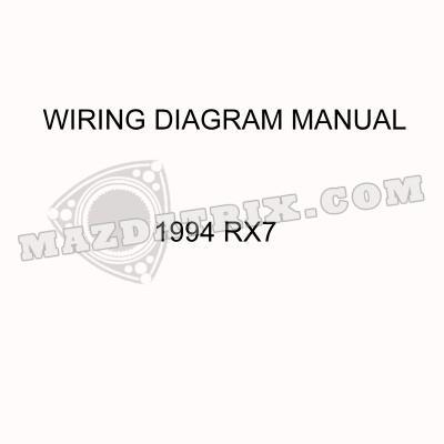 book wiring diagram, 94 rx7